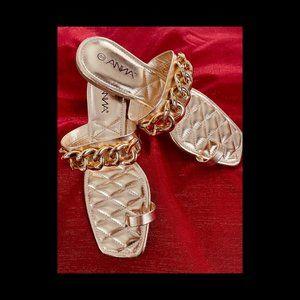 Gold Chain Toe Ring Sandal